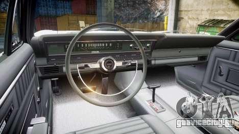 Ford Fairlane 500 1966 для GTA 4 вид сзади