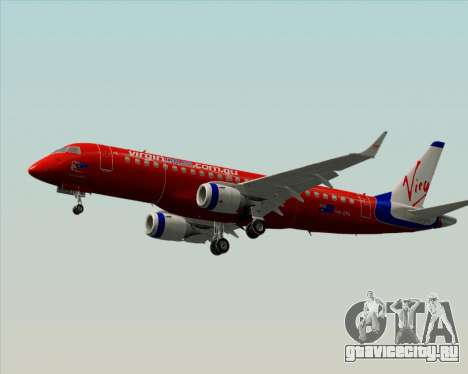 Embraer E-190 Virgin Blue для GTA San Andreas вид сзади слева