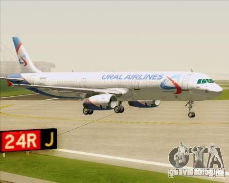 Airbus A321-200 Ural Airlines для GTA San Andreas вид снизу