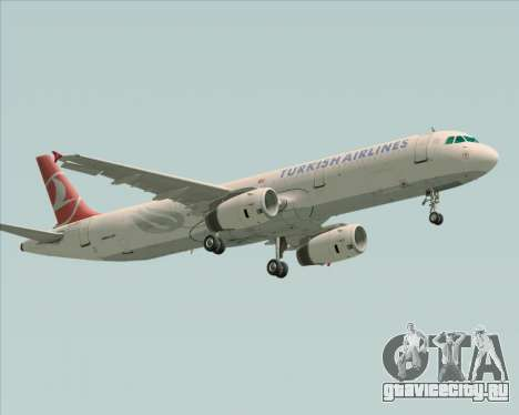 Airbus A321-200 Turkish Airlines для GTA San Andreas вид слева