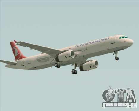 Airbus A321-200 Turkish Airlines для GTA San Andreas вид слева