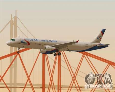 Airbus A321-200 Ural Airlines для GTA San Andreas вид сверху