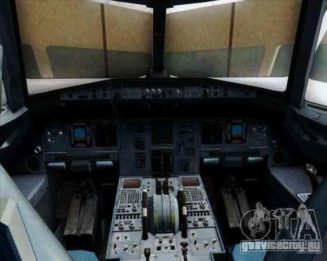 Airbus A320-232 United Airlines для GTA San Andreas салон