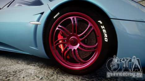Pagani Huayra 2013 [RIV] для GTA 4 вид сзади