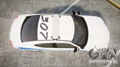 Dodge Charger 2010 PS Police [ELS] для GTA 4 вид справа
