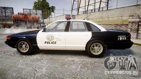 Vapid Police Cruiser GTA V LED [ELS] для GTA 4 вид слева