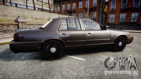 Ford Crown Victoria LASD [ELS] Unmarked для GTA 4 вид слева