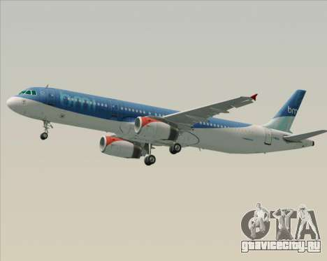 Airbus A321-200 British Midland International для GTA San Andreas колёса