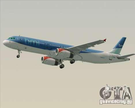 Airbus A321-200 British Midland International для GTA San Andreas колёса