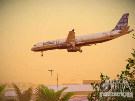 Airbus A321-232 jetBlue Blue Kid in the Town для GTA San Andreas вид сбоку