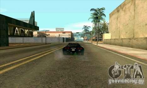 FCPD Chevrolet Corvette Z06 для GTA San Andreas вид слева