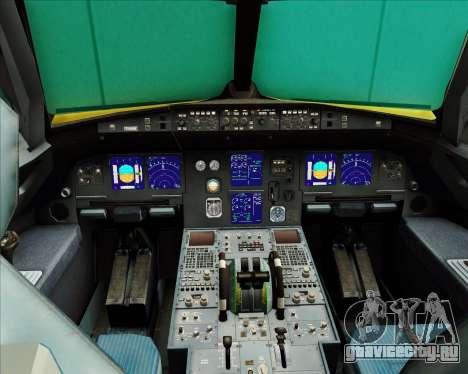 Airbus A321-200 для GTA San Andreas салон