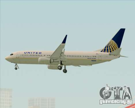 Boeing 737-824 United Airlines для GTA San Andreas вид сверху