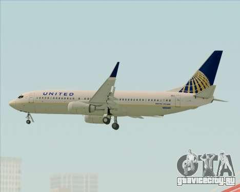 Boeing 737-824 United Airlines для GTA San Andreas вид сверху