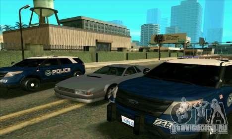FCPD Ford Explorer 2013 для GTA San Andreas вид сзади слева