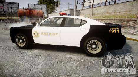 GTA V Bravado Buffalo LS Sheriff Black [ELS] для GTA 4 вид слева