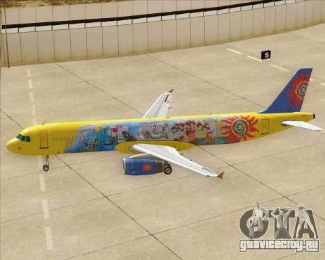 Airbus A321-200 для GTA San Andreas колёса