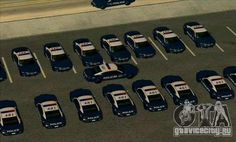 FCPD Dodge Charger SRT8 для GTA San Andreas вид сзади слева