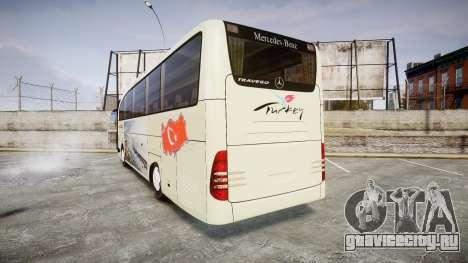 Mercedes-Benz Travego Turkey для GTA 4 вид сзади слева
