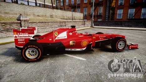Ferrari F138 v2.0 [RIV] Alonso THD для GTA 4 вид слева