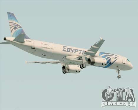 Airbus A321-200 EgyptAir для GTA San Andreas вид сзади