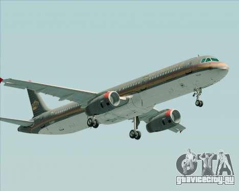 Airbus A321-200 Royal Jordanian Airlines для GTA San Andreas вид слева