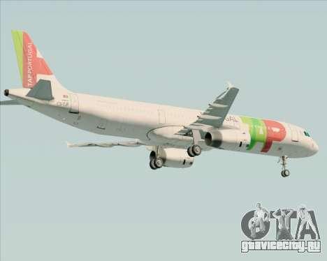 Airbus A321-200 TAP Portugal для GTA San Andreas вид справа