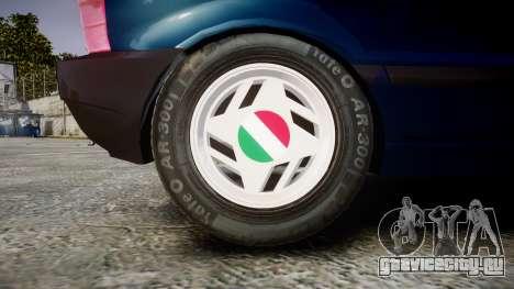 Fiat Uno для GTA 4 вид сзади