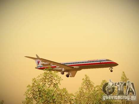 Bombardier CRJ-700 American Eagle для GTA San Andreas вид сбоку