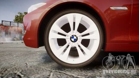 BMW 530d F11 для GTA 4 вид сзади