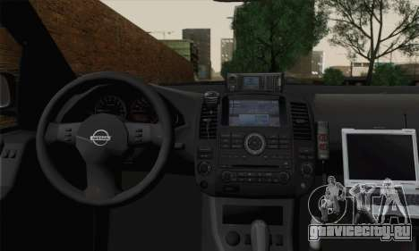 Nissan Pathfinder Policija для GTA San Andreas вид сзади слева