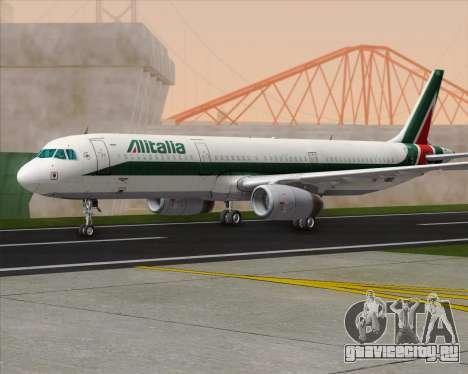 Airbus A321-200 Alitalia для GTA San Andreas вид сзади слева