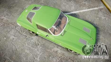 Chevrolet Corvette Stingray 1963 для GTA 4 вид справа