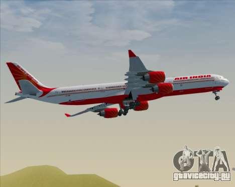 Airbus A340-600 Air India для GTA San Andreas вид сзади