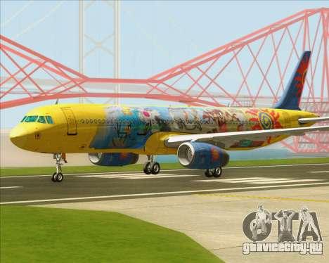 Airbus A321-200 для GTA San Andreas вид слева