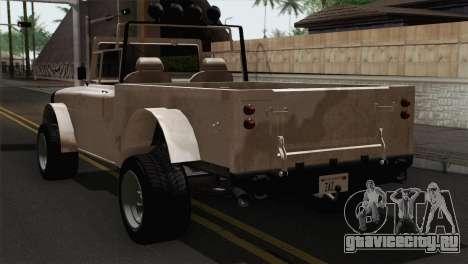 Canis Bodhi V1.0 Army для GTA San Andreas вид слева