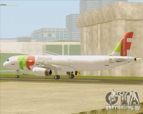 Airbus A321-200 TAP Portugal для GTA San Andreas вид снизу