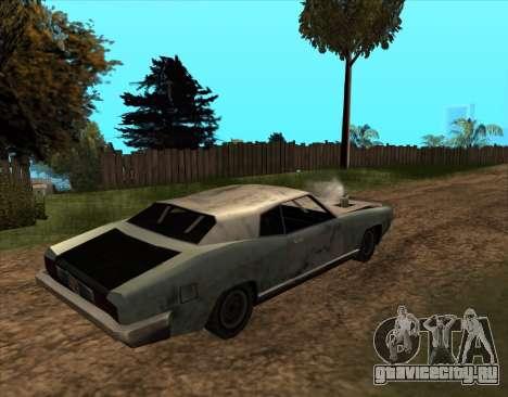 Постапокалиптический Buccaneer для GTA San Andreas вид слева