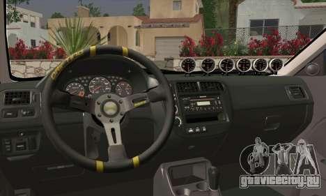 Honda Civic Si 1999 для GTA San Andreas вид сзади слева