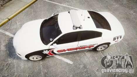 Dodge Charger RT 2013 LC Sheriff [ELS] для GTA 4 вид справа