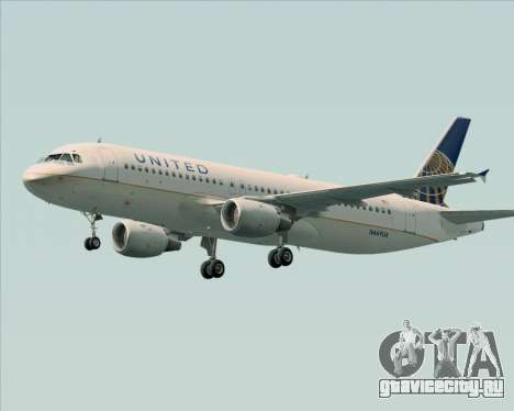 Airbus A320-232 United Airlines для GTA San Andreas колёса