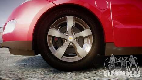 Chevrolet Volt 2011 v1.01 rims1 для GTA 4 вид сзади