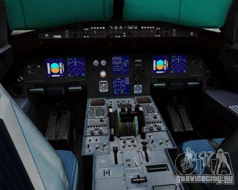 Airbus A321-200 British Midland International для GTA San Andreas салон
