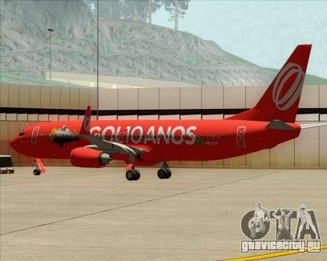 Boeing 737-800 Gol Transportes Aéreos для GTA San Andreas колёса