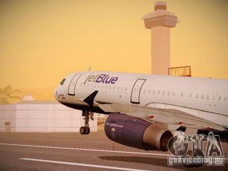 Airbus A321-232 jetBlue Woo-Hoo jetBlue для GTA San Andreas колёса
