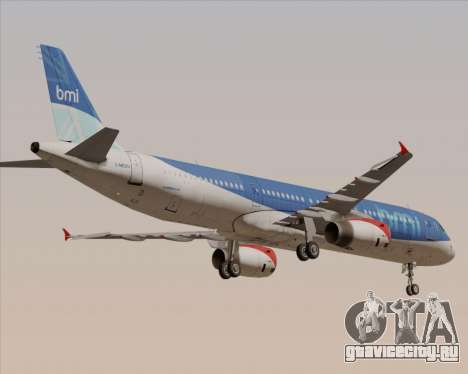 Airbus A321-200 British Midland International для GTA San Andreas вид сверху