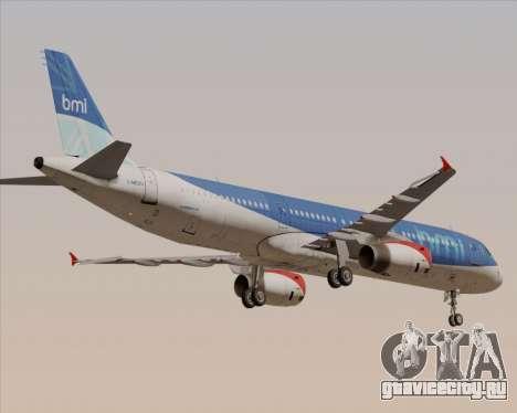 Airbus A321-200 British Midland International для GTA San Andreas вид сверху