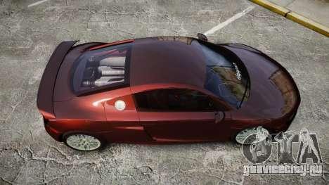 Audi R8 2010 Rotiform BLQ для GTA 4 вид справа