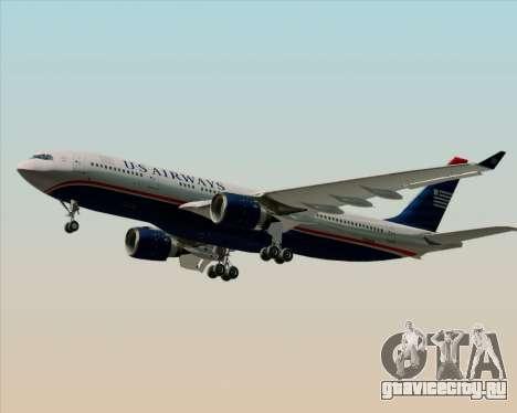 Airbus A330-200 US Airways для GTA San Andreas вид сзади слева