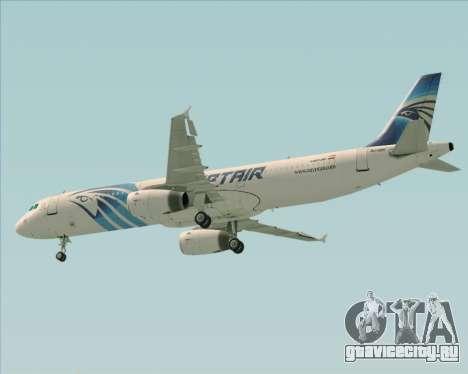 Airbus A321-200 EgyptAir для GTA San Andreas вид снизу